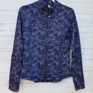 Lululemon Define jacket 10 like new blk/turq/grey